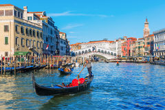 Scene at the Grand Canal in Venice, Italy Stock Photography