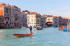 Scene at the Grand Canal in Venice, Italy Stock Images