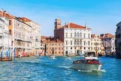 Scene at the Grand Canal in Venice, Italy Royalty Free Stock Image
