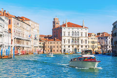 Scene at the Grand Canal in Venice, Italy Royalty Free Stock Photos