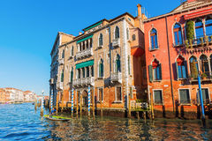 Scene at the Grand Canal in Venice, Italy Royalty Free Stock Photography
