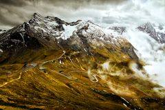 Scene of Grossglockner Alps Austria stock photography