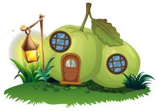 Scene with guava house with lantern Stock Photos