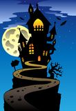 Scene with Halloween mansion 2 Royalty Free Stock Images