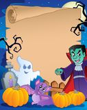 Scene with Halloween parchment 1 Royalty Free Stock Photo
