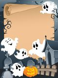 Scene with Halloween parchment 4 Stock Images