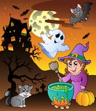 Scene with Halloween theme 1 Stock Images