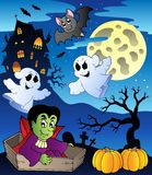 Scene with Halloween theme 2 Stock Image