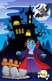 Scene with Halloween theme. Vector illustration stock illustration