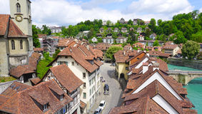 Scene of historical old town city and river Stock Photography