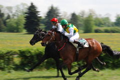 A scene of a horse race Stock Image