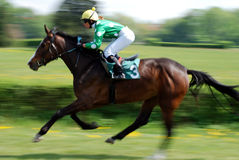 A scene of a horse race Royalty Free Stock Photography