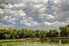 Scene of imperial park, Beihai park Royalty Free Stock Image