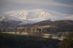 Scene invernali negli altopiani scozzesi come forecas del freddo Immagini Stock