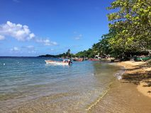 A scene from the island of Martinique stock photo