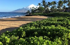 A scene from the island of maui on Hawaii stock photos