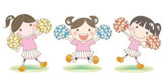 Cheerleader`s support image vector illustration