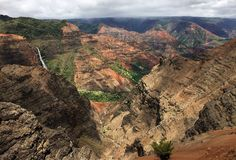 A scene from the island of Kauai on Hawaii stock images