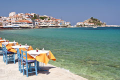 Scene in Kokkari on Samos Royalty Free Stock Image