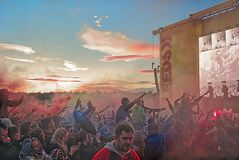 Riot stock image