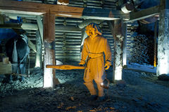 Scene from life of the miners extracting salt Stock Photos