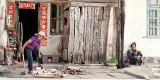 A scene from the life of ordinary people on Hainan island Stock Photography