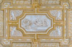 Scene from the life of Saint Peter in the ceiling of the portico in Saint Peter Basilica in Rome, Italy. royalty free stock photography