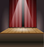 Scene with lights and curtain Stock Photography