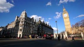 Scene of London Westminster include Big Ben stock footage