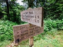 Scene lungo la traccia appalachiana in grandi montagne fumose Fotografia Stock