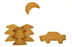Scene made of gingerbread Stock Photography