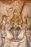 Scene from Mahabalipuram Caves Royalty Free Stock Photo