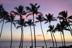 A scene from the island of maui on Hawaii stock images