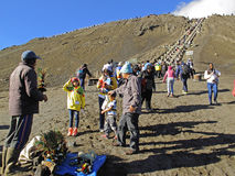 Scene at Mount Bromo Royalty Free Stock Image