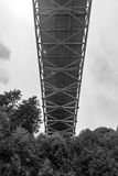 Scene of the Narrows steel bridge in Tacoma,Washington,USA. Royalty Free Stock Photo