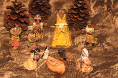 Scene of Nativity by aboriginal. Royalty Free Stock Image