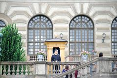 Security guard near the presidential Palace royalty free stock photos