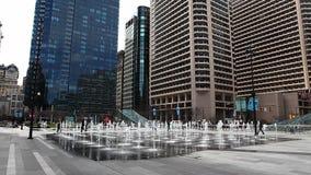 Scene near Philadelphia, Pennsylvania city hall stock footage