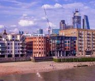 Scene of New London Skyline stock image
