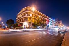 Scene of night life in Phnom Penh, Cambodia Stock Images