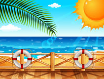 Scene with ocean in summer Royalty Free Stock Images