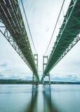 Scene Of The Narrows Steel Bridge In Tacoma,Washington,USA. Royalty Free Stock Images