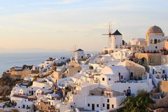 Scenes of Oia Santorini Stock Photography