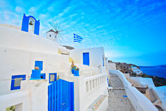 Scene from Oia village Royalty Free Stock Image