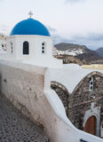 Scene of Oia Village at Santorini Stock Photos
