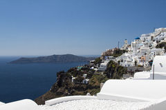 Scene of Oia Village at Santorini Stock Images