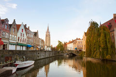 Scene of old town, Bruges Stock Photos