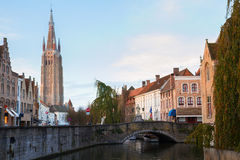 Scene of old town, Bruges Stock Photo