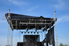 Scene onto air. Bandstand  for performers of music in the open air Stock Image
