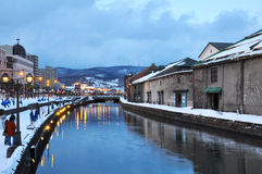 Scene of Otaru canel Royalty Free Stock Images